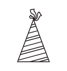 Birthday hat icon vector