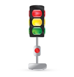traffic light painted on a white background vector image