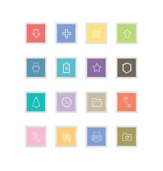 Outline button icons vector image