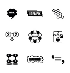 Thought icon set vector