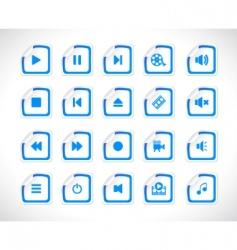 stickers with icons vector vector image