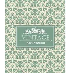 Vintage background antique victorian silver vector image