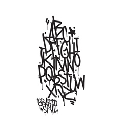 Graffiti alphabet letters of the alphabet written vector