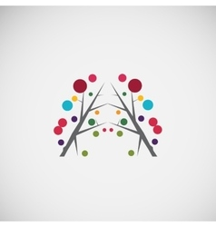Abstract floral frame design vector image