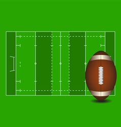 Football field american football ball vector