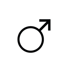 Sign men icon male gender vector
