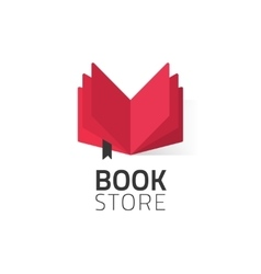 Bookstore logo isolated on vector