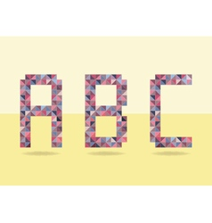 Low poly colorful alphabet letters font vector