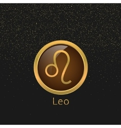 Golden leo sign vector