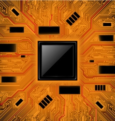 Technology abstract background chipset concept vector