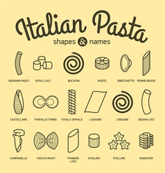 Set of pasta vector