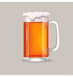 Glass of red beer vector