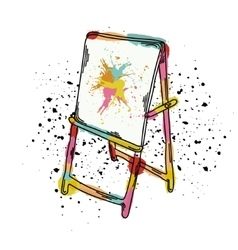 An easel for drawing it vector