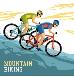 Mountain biking vector