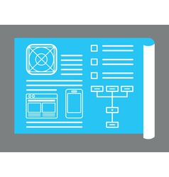 Application development for mobile devices vector image