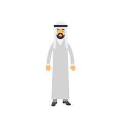 Arabian male character in traditional muslims vector