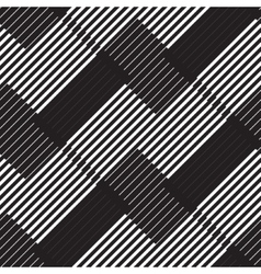 Black and white stripe geometric vintage design vector image vector image