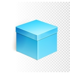 Blank box over white background vector
