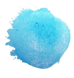 Blue circle stylish watercolor background vector image vector image