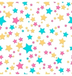 Bright stars seamless texture vector