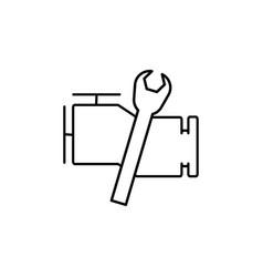car engine repair icon vector image vector image