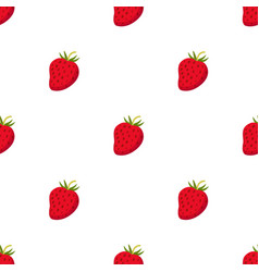 Cartoon berries pattern ripe organic vitamin vector