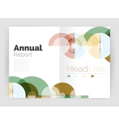 Circle abstract background business annual report vector image