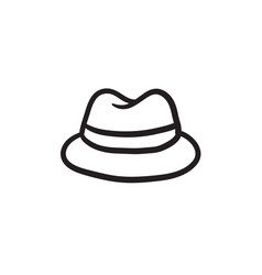 Classic hat sketch icon vector