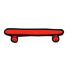 Comic cartoon skateboard vector