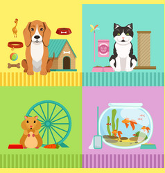 conceptual of different pets dog vector image vector image