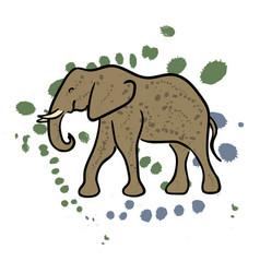 Elephant hand drawn clip art vector