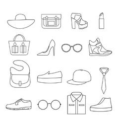 Fashion Accessories Line Icon Set vector image
