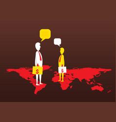 global business deal concept design vector image