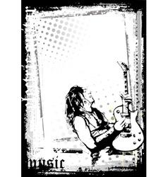 Guitarist poster vector