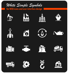 Industry icon set vector