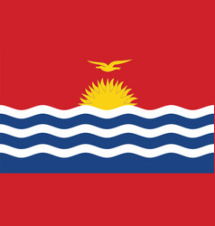 Kiribati flag for independence day and vector