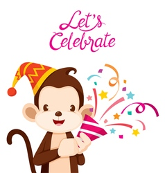 Monkey fun with party vector