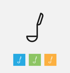 Of food symbol on ladle vector