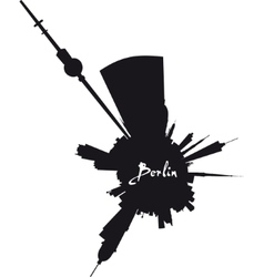 Planet berlin circular silhouette vector