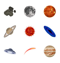 Planets of the solar system cosmic objects vector
