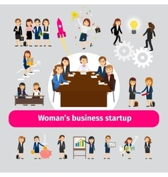 Professional woman business networking vector
