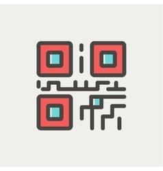 Qr code thin line icon vector