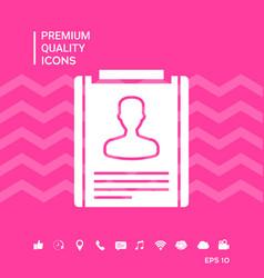 Resume symbol icon vector