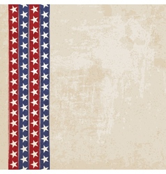 Vintage background with stripes and stars vector image vector image