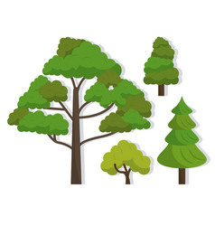 white background with several trees vector image