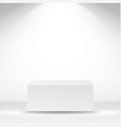 White square platform white interior vector
