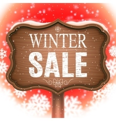 Winter sale signboard vector