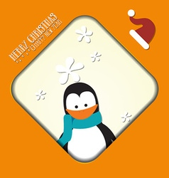 With christmas and winter flower vector