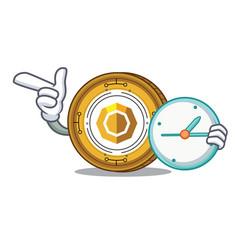 With clock komodo coin character cartoon vector