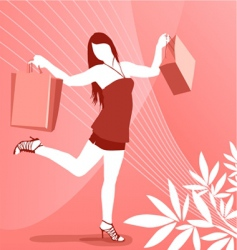 women happy at shopping vector image vector image